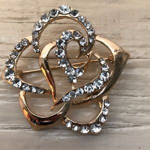 5 for $25 /Open Worked Blossom Brooch